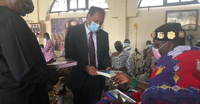 Let's partner to promote indigenous medicines - Daasebre Prof. Emeritus Oti Boateng tells Indian High Commissioner to Ghana