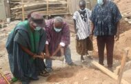 Berekuso Chief cuts sod for the construction of ultra-modern STEM-based basic school