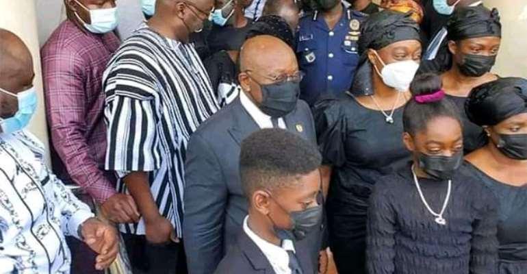 Akufo-Addo, Bawumia mourn with Baako as he bid farewell to his late mother
